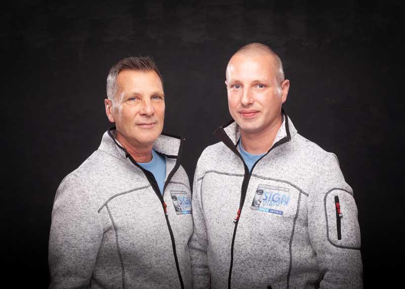 Jim en Frans van Keeken van Sign Vision Reclame uit de Zaanstreek